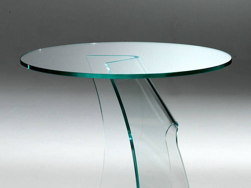 Coffee Table In Curved Glass Etabeta
