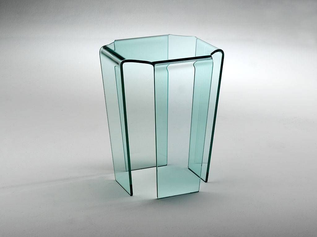 Table basse en verre courb tecla - Table basse en verre but ...