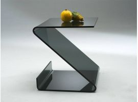 Coffee table in curved glass Ziggy