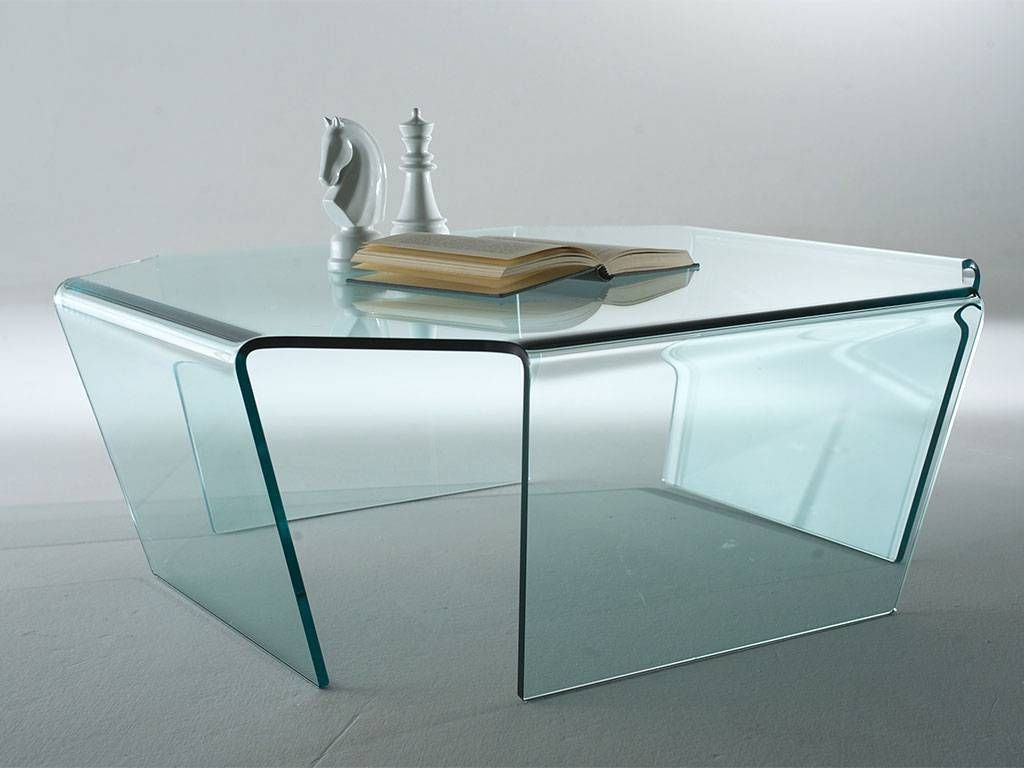 Coffee Table In Curved Glass Quadra