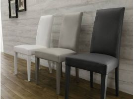 Bally chair in solid beech wood and leatherette