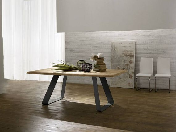 Mr. Big Legno wood and metal table