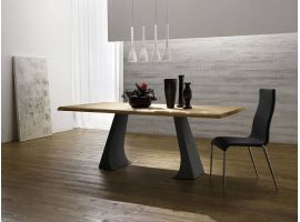 Jump Legno wood and metal table