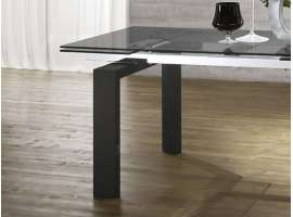 Glass bois table extensible