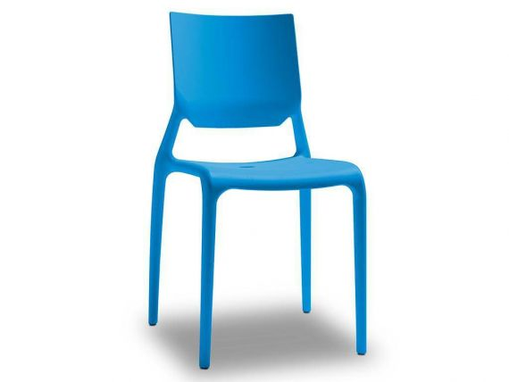 Chair in engineering plastic and fiberglas Sirio
