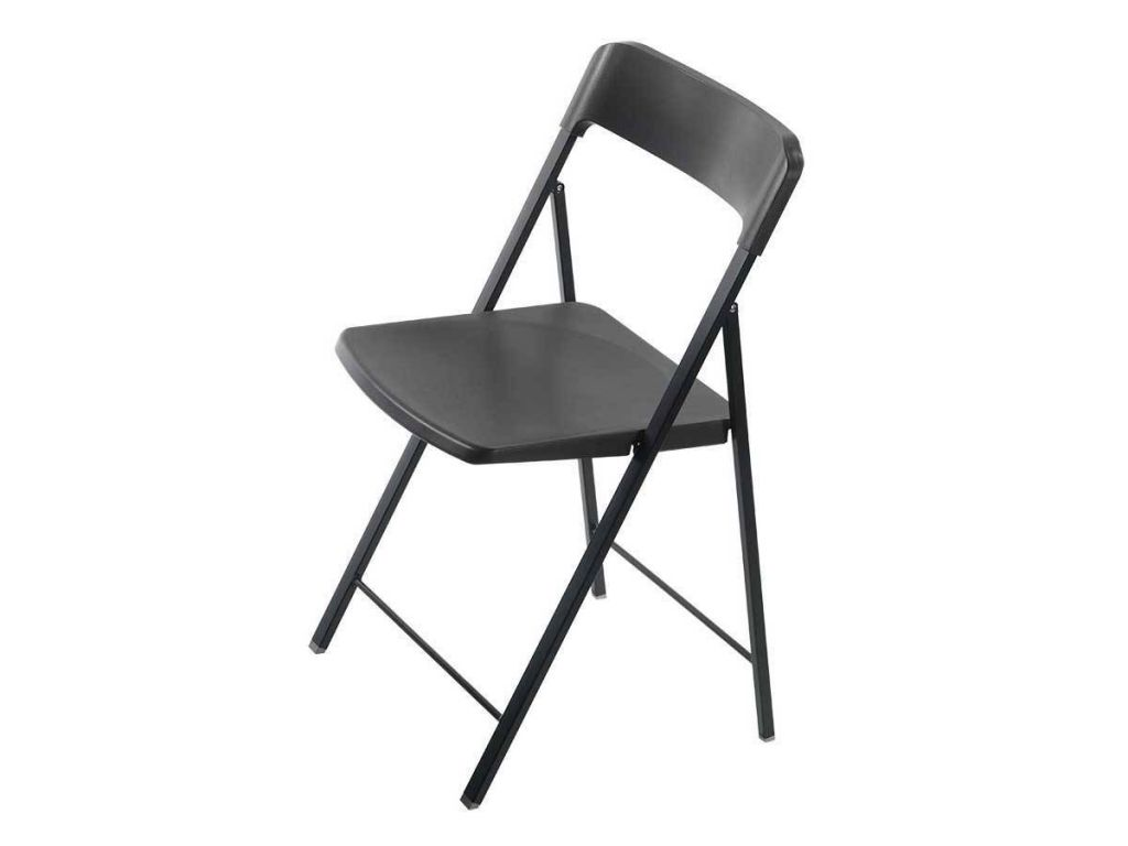 Folding chair in steel and plastic zeta for Metal living room chairs