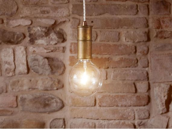 Hanging lamp in oxidized brass NIO