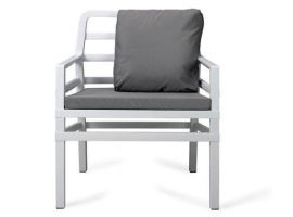 Outdoor Armchair WHITE Aria