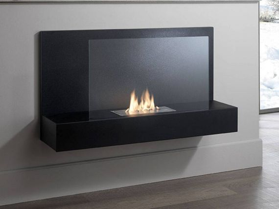 Basin wall fireplace