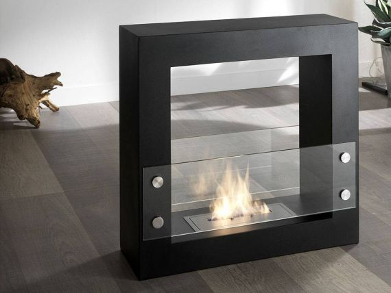 Canyon floor fireplace