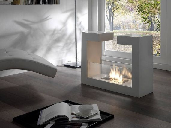 Cascades floor fireplace