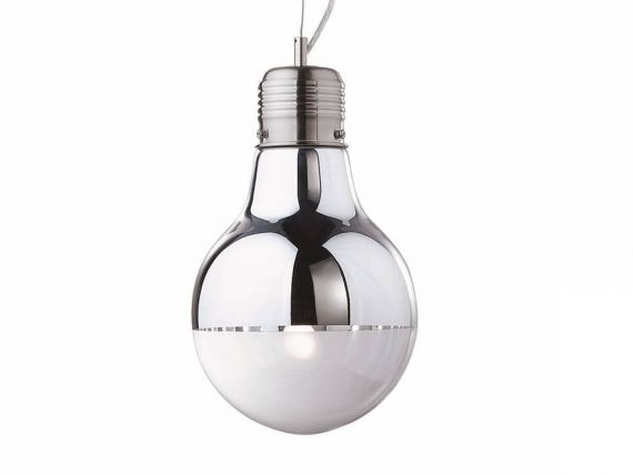 Luce Cromo SP1 Small lampe à suspension avec diffuseur en verre