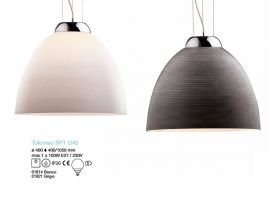 Tolomeo hanging lamp with diffusor in glass