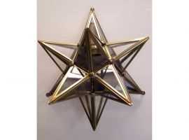 Stella Lamp applique in Brass