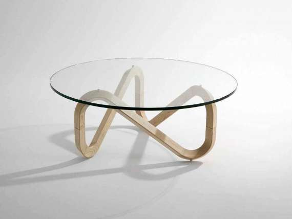 Libra Coffee table with wood base