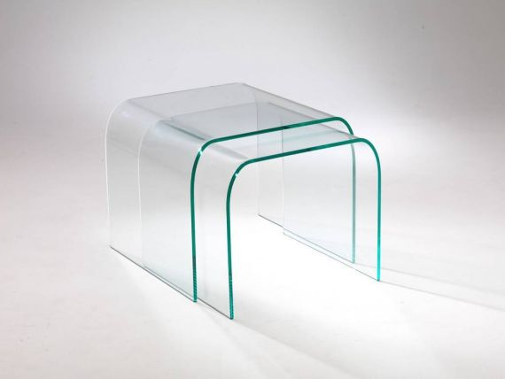 Curved crystal small table Tunnel Due