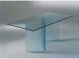 Curved glass base for glass table Siddartha