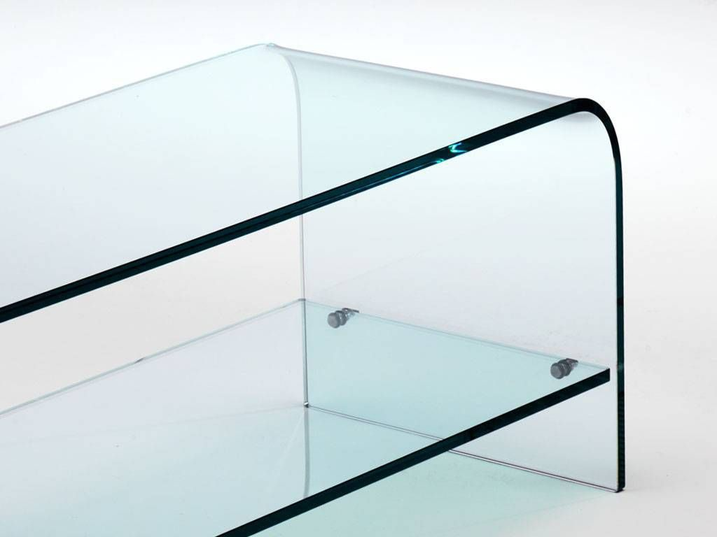 ... Curved Glass TV Stand Cabinet Tango ...