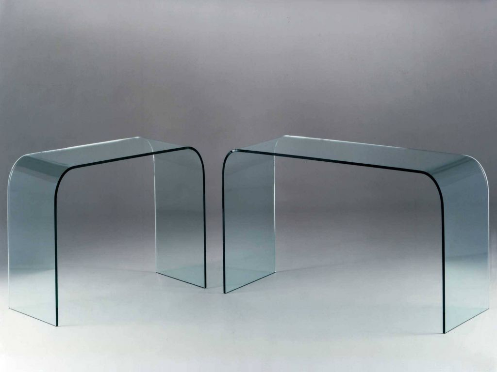 Curved Glass Console Console