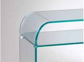 Curved glass console Console Piano