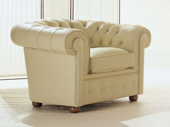 Chester classic armchair in leather or eco leather